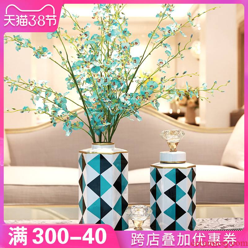 I and contracted sitting room porch ceramic vase furnishing articles flower arranging TV ark, creative decoration wine table decorations