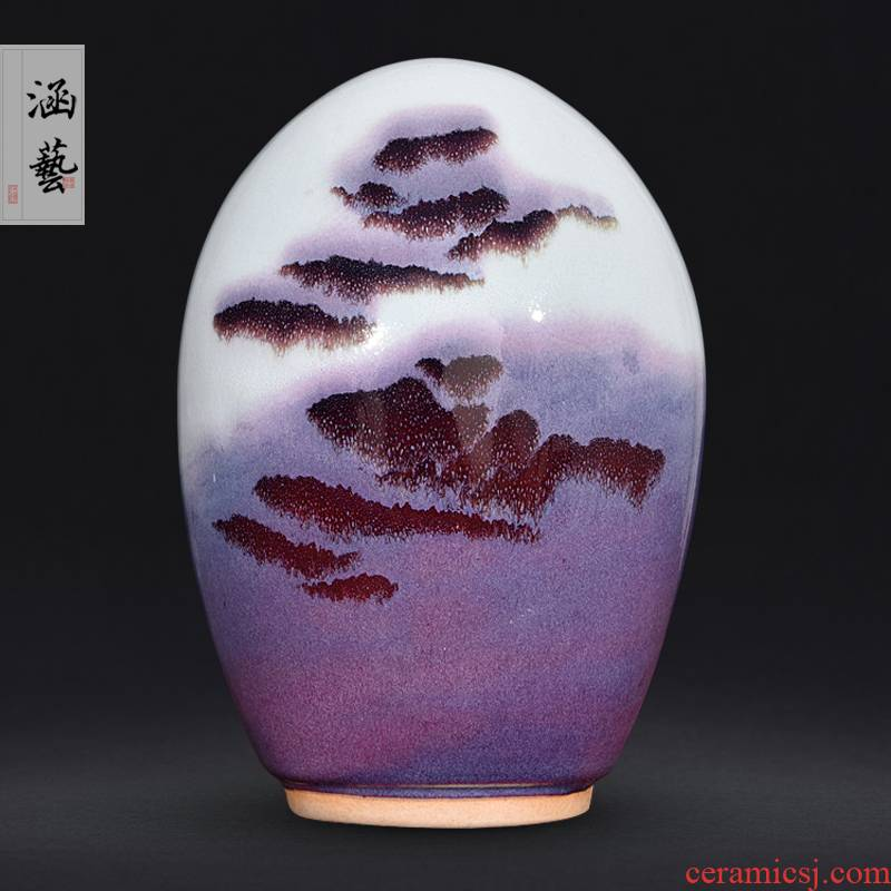 Jingdezhen ceramics up with jun porcelain stone landscape this new Chinese flower arranging sitting room adornment handicraft furnishing articles