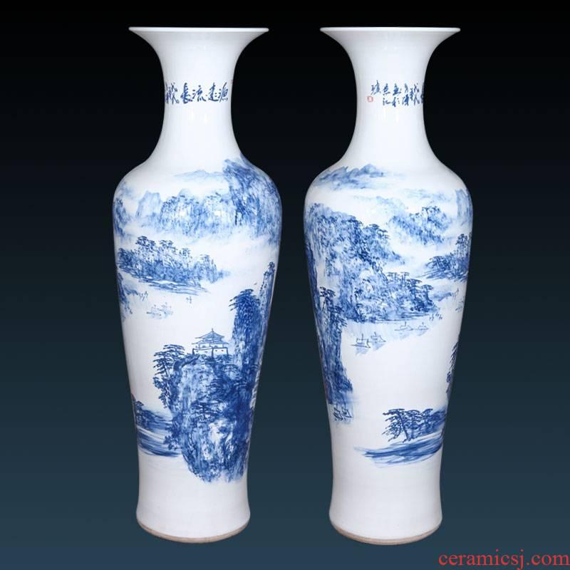 Jingdezhen ceramics landing big vase goes back to ancient times sitting room hotel furnishing articles ornaments