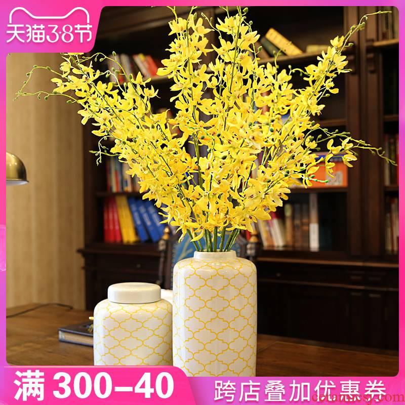 I and contracted TV ark, furnishing articles creative household vases, ceramic flower arrangement sitting room porch decoration desktop decoration