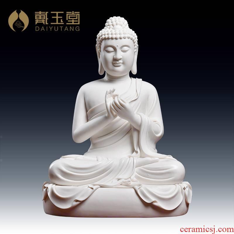 Yutang dai Zheng Jinxing manually signed dehua ceramic home furnishing articles to tathagata Buddha great day/D18-36