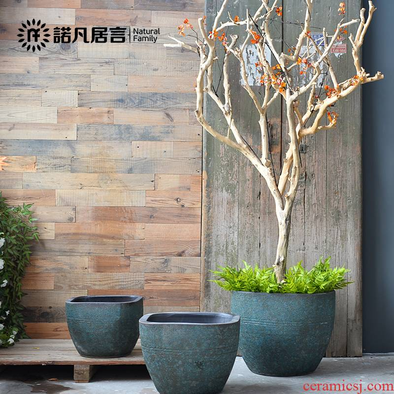 Jingdezhen ceramic aquarium fish square extra large circular feng shui living room the tortoise landscape water furnishing articles