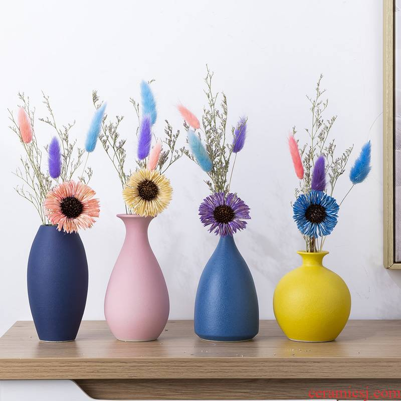 Nordic dried flower decoration with small pure and fresh and vase furnishing articles sitting room TV cabinet ceramic table suit household arranging flowers