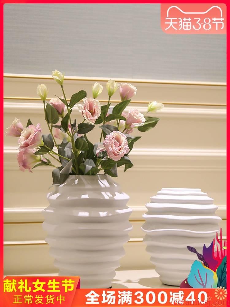 Modern light key-2 luxury ceramic vase mesa place sitting room porch TV ark, simulation flower arrangement, decoration decoration