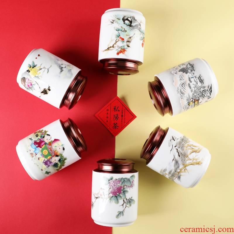 Ceramic tea pot seal moisture creative move fashion put tea POTS large a kilo with gift box