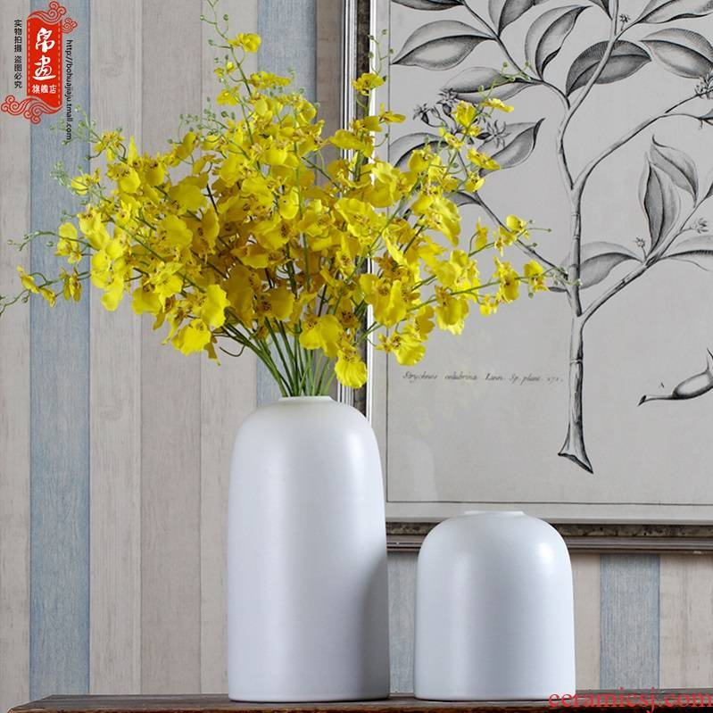 Jingdezhen ceramic dried flower vases, creative fashion a sitting room place, home decoration ceramic dry flower, flower, flower receptacle