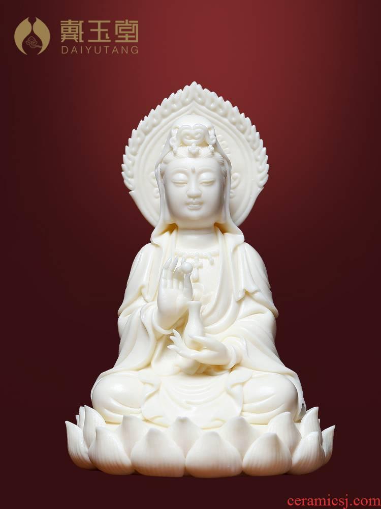 Yutang dai jade huang porcelain Buddha guanyin bodhisattva Buddha furnishing articles porcelain goddess of mercy Buddha enshrined with arts and crafts