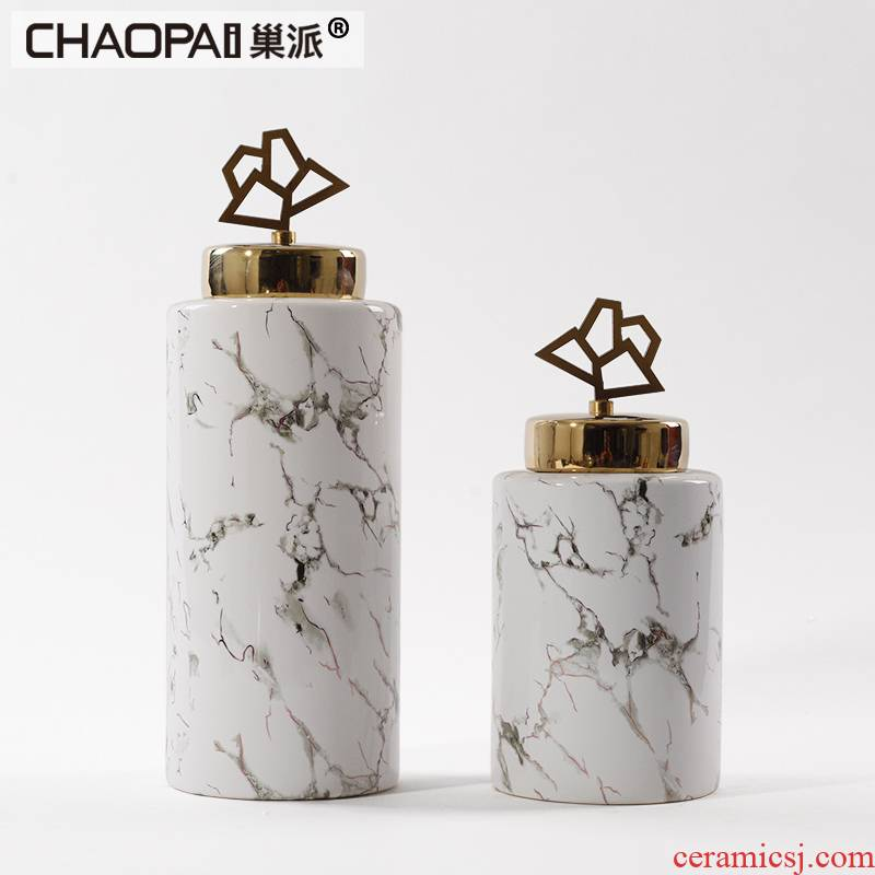 Modern Chinese style light general key-2 luxury ceramic pot furnishing articles Sir Bai Dali stone vases, the sitting room porch soft decoration