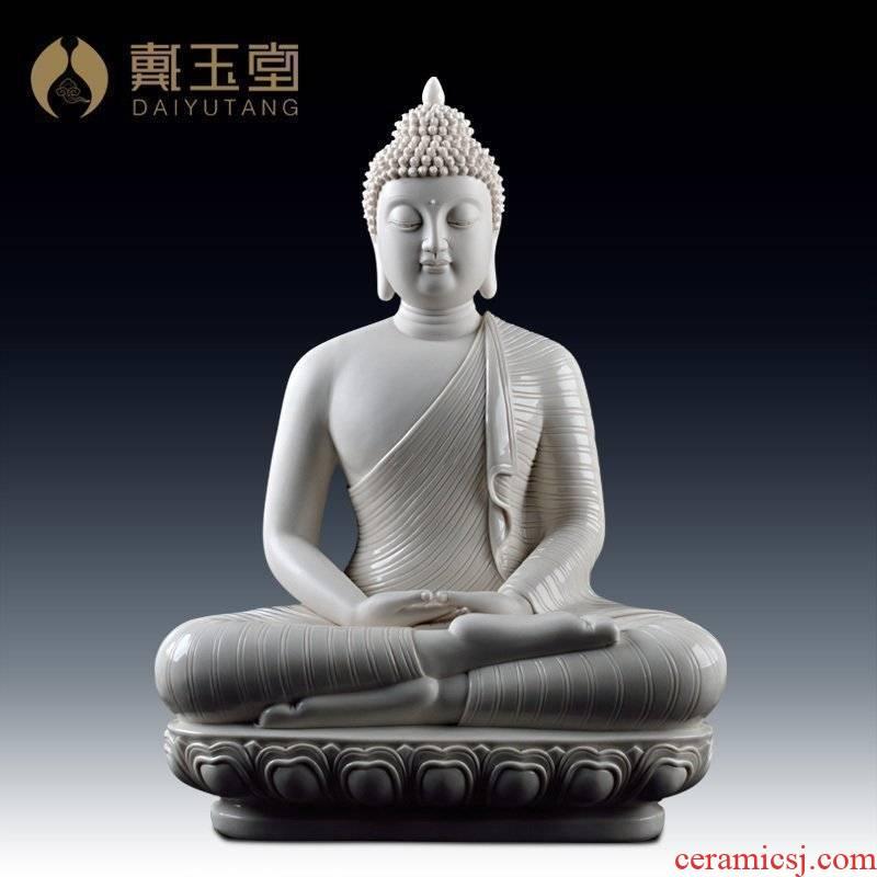 Yutang dai dehua porcelain its in southeast Asia figure furnishing articles/Thai Buddha white D34-09