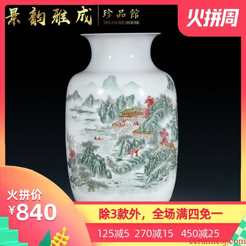 I and contracted sitting room of Chinese style household hand - made vases jingdezhen ceramics creative decorative flower arrangement to China