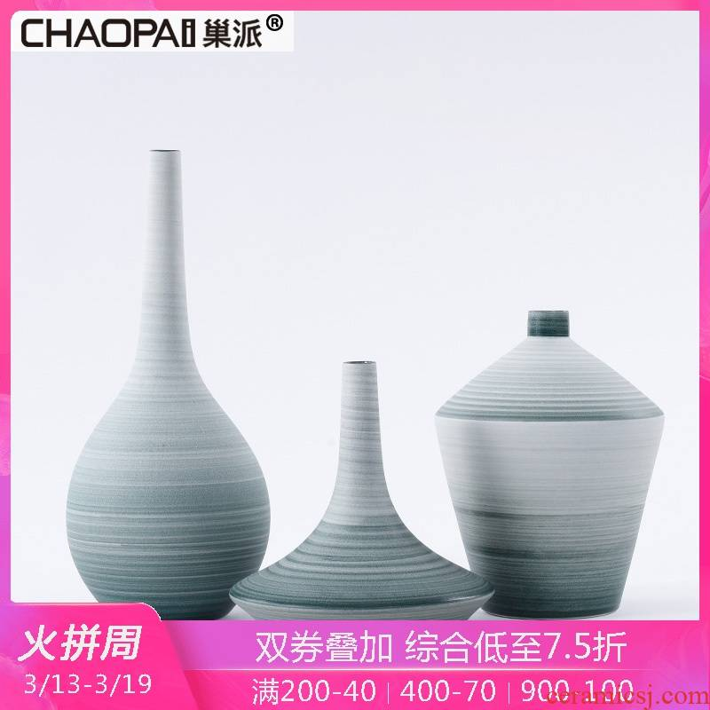 Japanese small pure and fresh and fine expressions using flower arrangement drawing ceramic vase furnishing articles desktop soft outfit decoration furniture interior restaurant