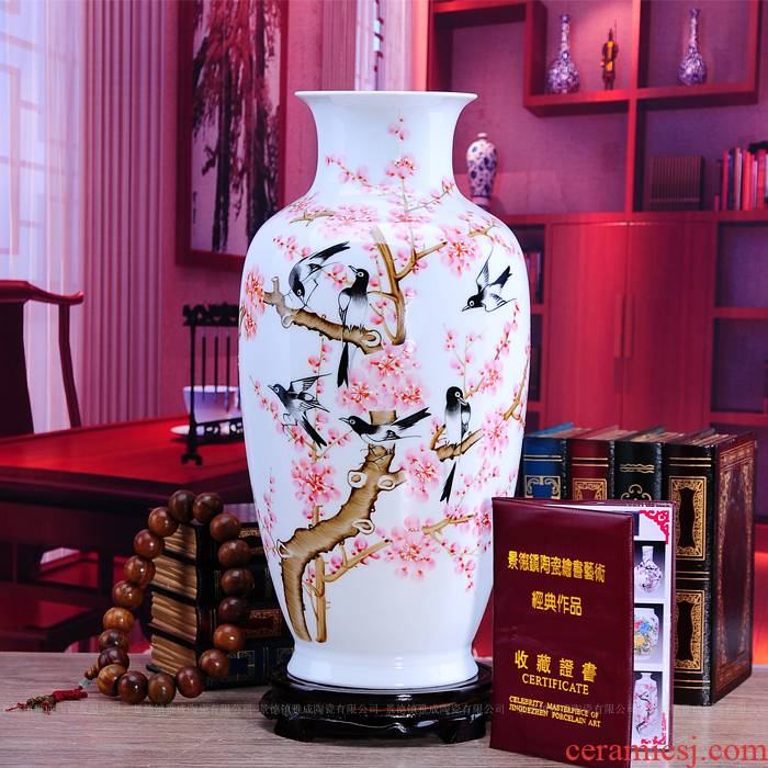 Jingdezhen ceramics hand - made vases sitting room home decoration handicraft furnishing articles for wedding gift accessories