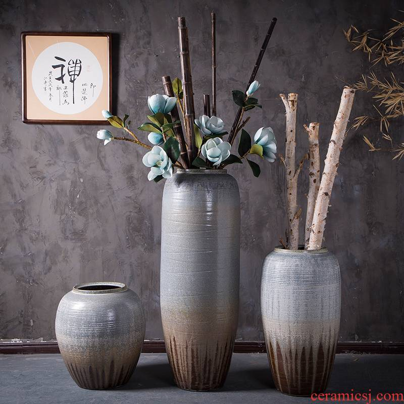 Vase furnishing articles flower arranging large sitting room be born American Chinese I and contracted Europe type flower arrangement of jingdezhen ceramics