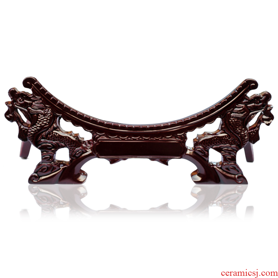 Double tap China plate base decorative base stents furnishing articles leading decorative hanging dish decorations