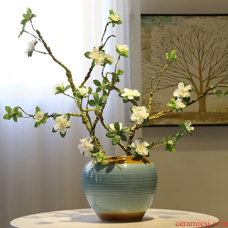 Jingdezhen ceramic new Chinese style table vases, table, TV ark, decoration flower implement TV ark, porch decoration flower receptacle