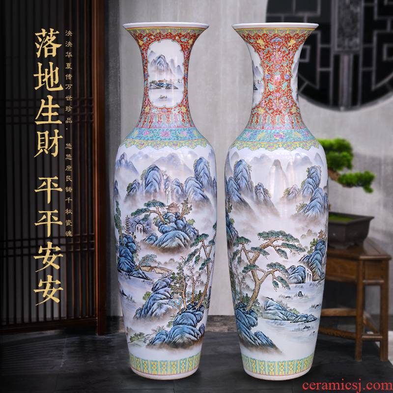 Jingdezhen ceramics hand - made dragon large vase decoration to the hotel opening party furnishing articles customized gifts