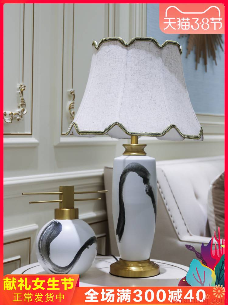 The New Chinese jingdezhen ceramics furnishing articles decoration light between example big desk lamp receptacle key-2 luxury European - style decorative arts and crafts