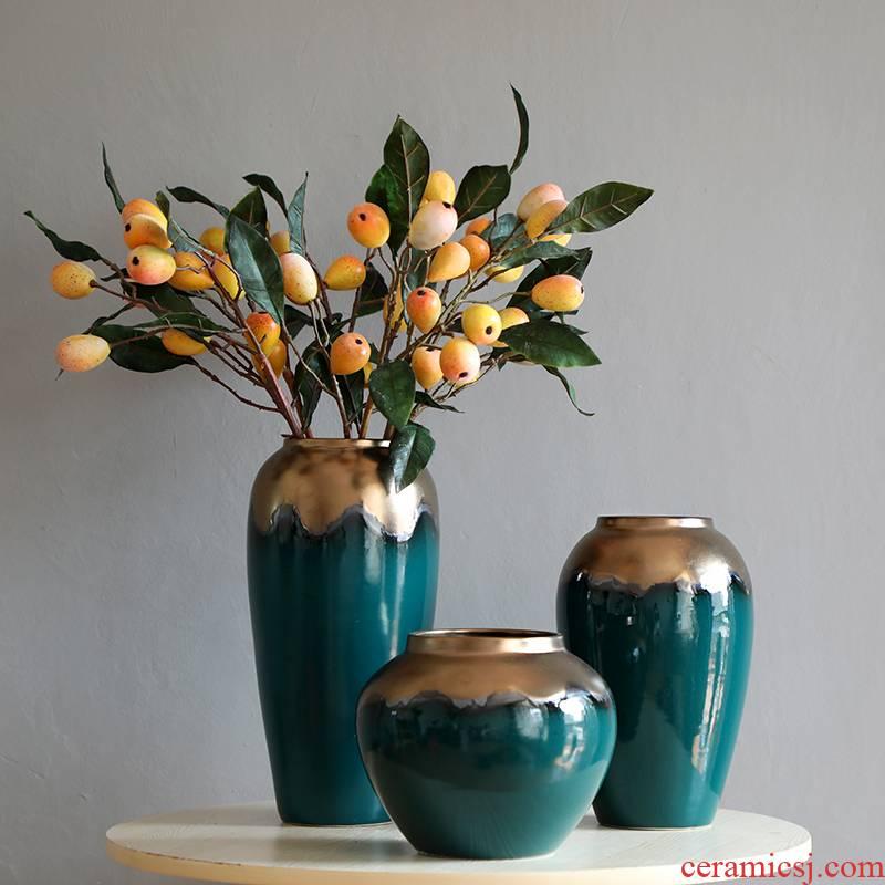 Up Phnom penh light key-2 luxury modern jingdezhen ceramic vase furnishing articles Nordic mesa of new Chinese style living room suit arranging flowers