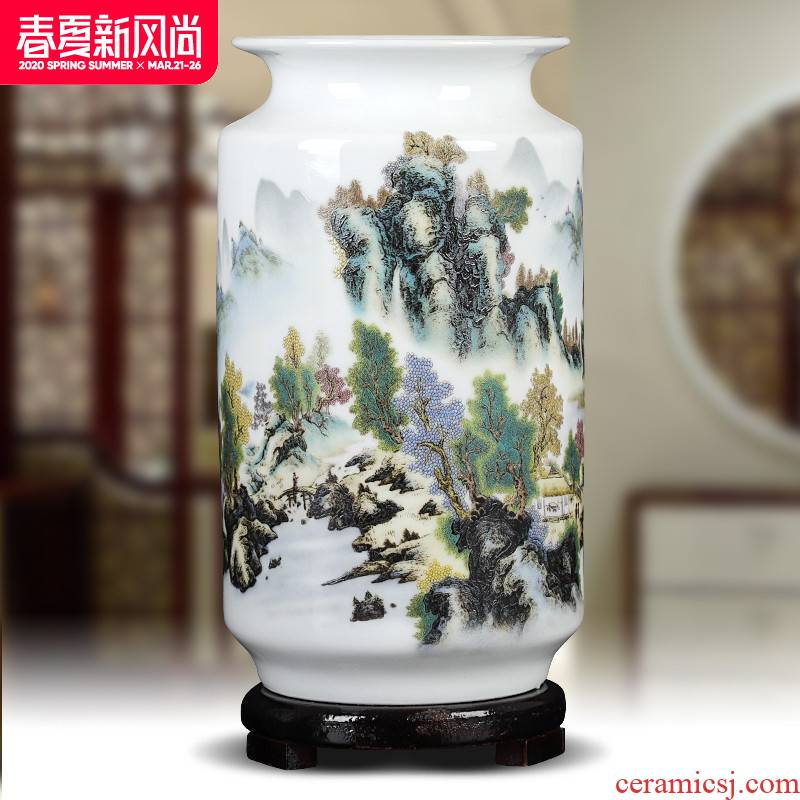 Ceramics creative lucky bamboo flower arrangement white floret bottle of home sitting room table decorations furnishing articles factory goods wholesale