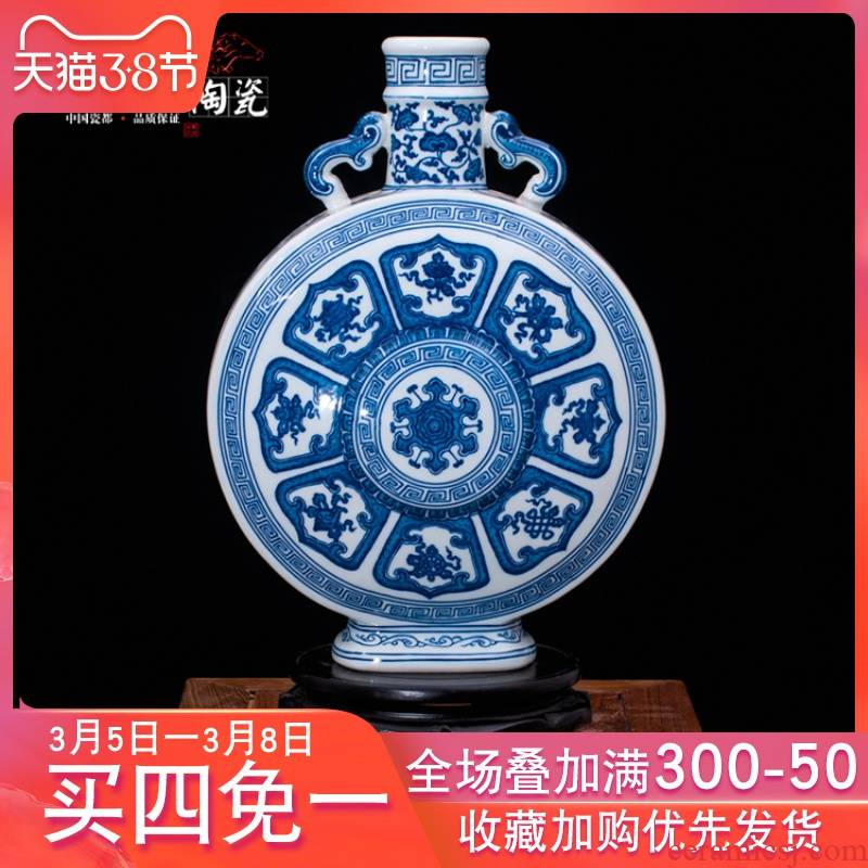 Jingdezhen blue and white vase high - end custom hand antique ceramics decoration furnishing articles sui collection