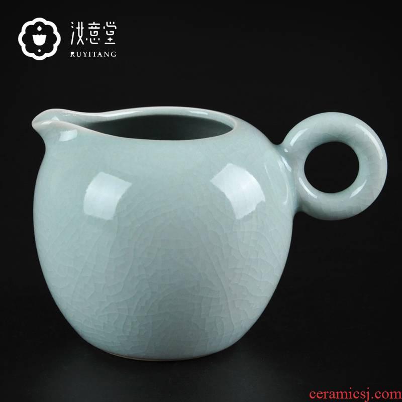 Your up porcelain tea fair keller, ceramic head points of tea ware fair cup high - capacity kung fu tea accessories household