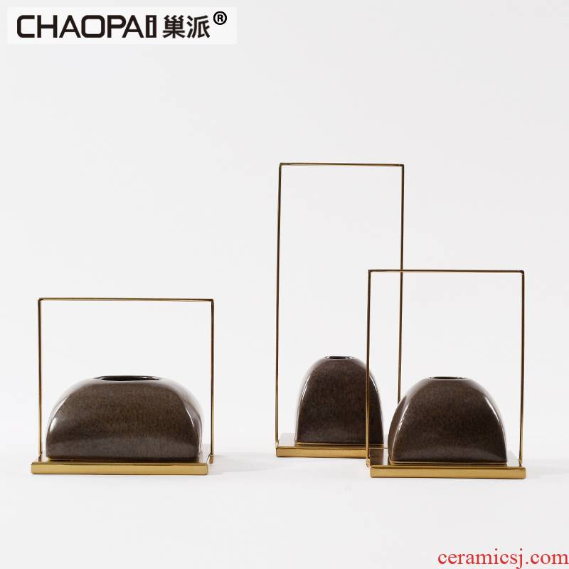 New classic ceramic flower arranging flower implement furnishing articles ikea porch ark, rich ancient frame, the teahouse is a long narrow table display decorations