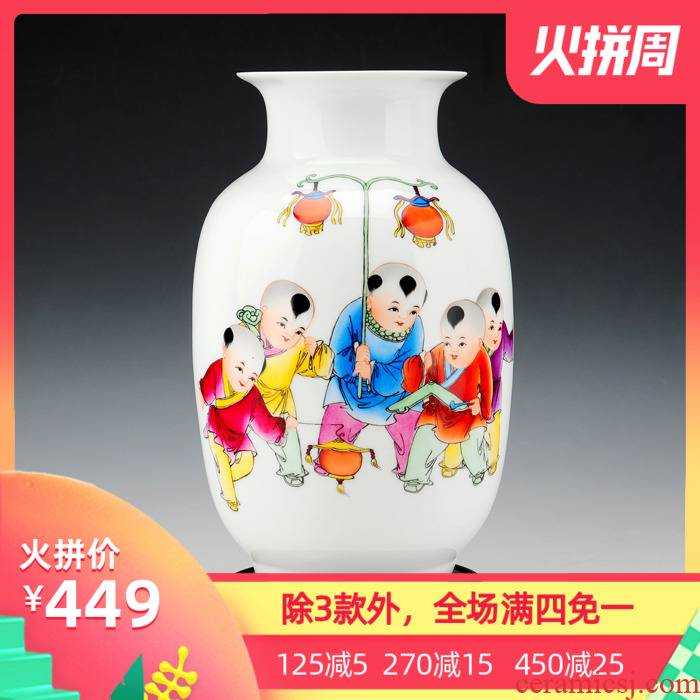 The Master of jingdezhen ceramics hand - made sitting room decoration vase modern furnishing articles home decorations