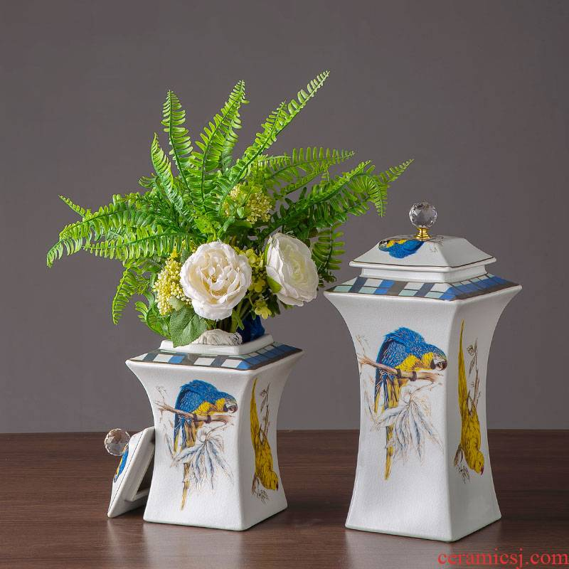 European - style hand - made crystal flower square as cans ceramic vase household act the role ofing is tasted furnishing articles between soft outfit example ceramic jewelry