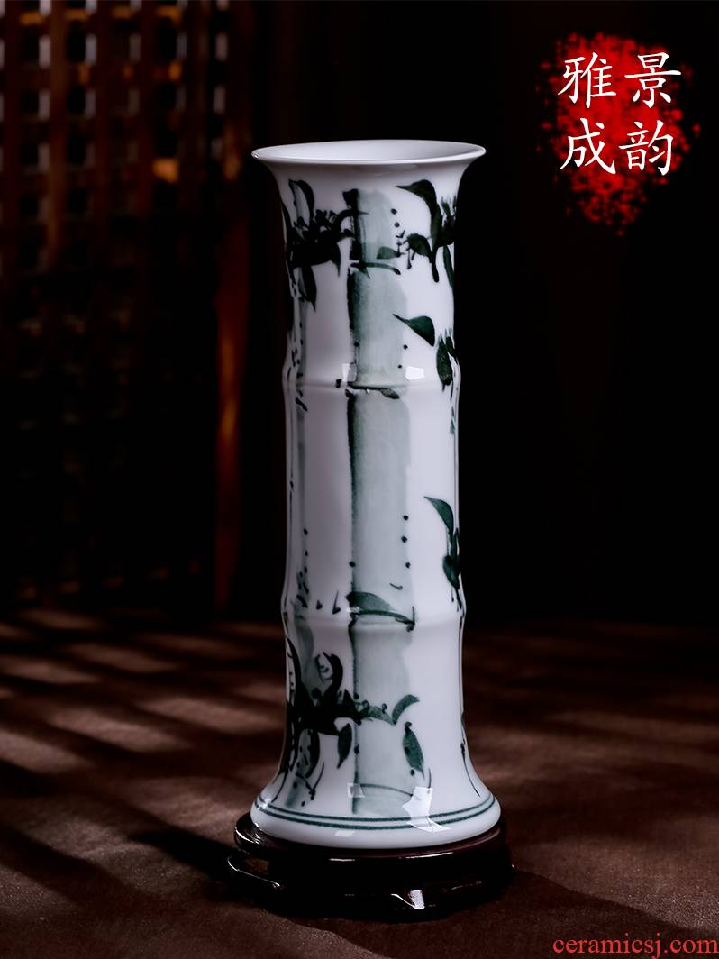 Jingdezhen ceramic vase lucky bamboo large sitting room household act the role ofing is tasted furnishing articles hydroponic flower arranging desktop gifts