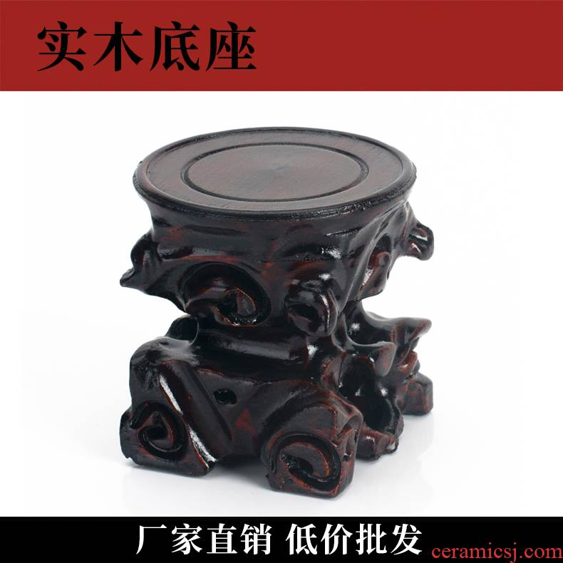 It base pot pot supporting wood real wood floret bottle gourd furnishing articles wenge bonsai fleshy bracket