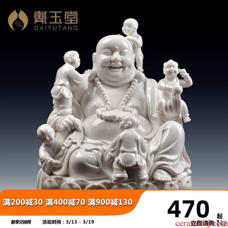 Yutang dai dehua ceramic laughing Buddha pot - bellied smiling Buddha crafts home furnishing articles abital maitreya sitting room