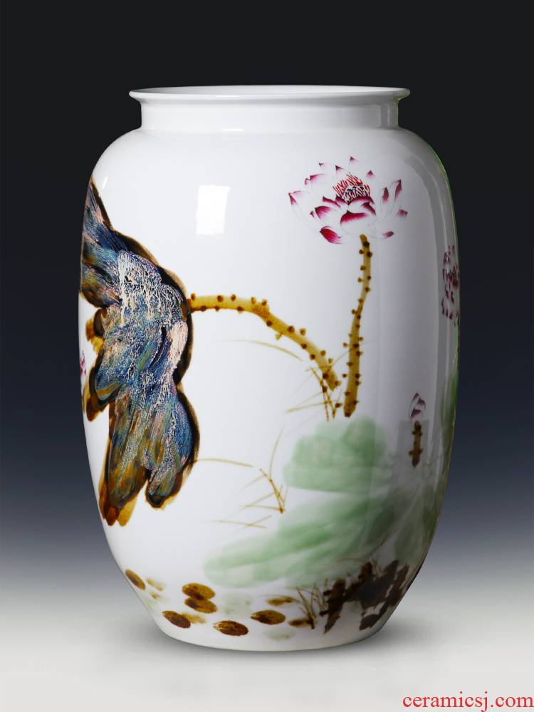 Jingdezhen porcelain of large vases, ceramic furnishing articles hand - made of new Chinese flower arranging large sitting room adornment ornament