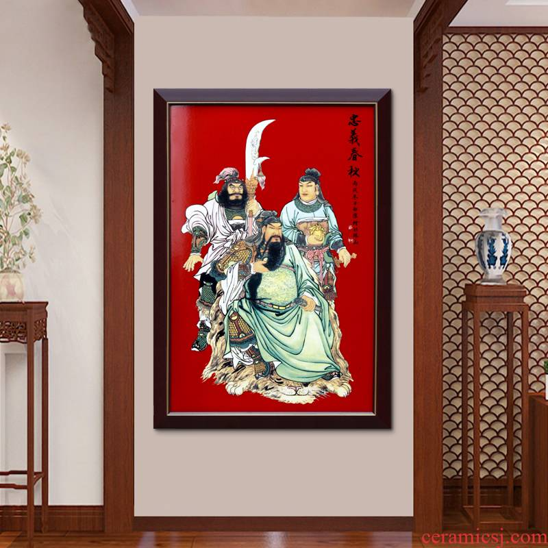 Jingdezhen pastel loyalty and the spring and autumn period and the adornment picture sitting room sofa setting metope ceramic plate corridor porch hang a picture