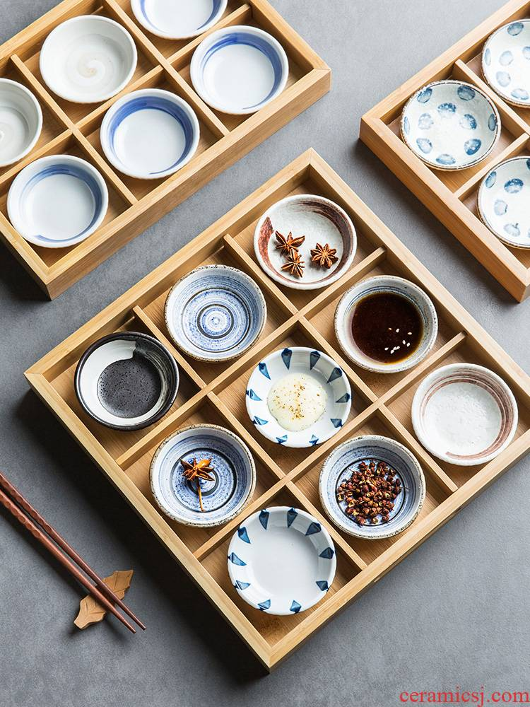 Flavour dish of composite ceramic household cold dish dish taste disc material plate small plate dessert plate scratchable latex wood tray
