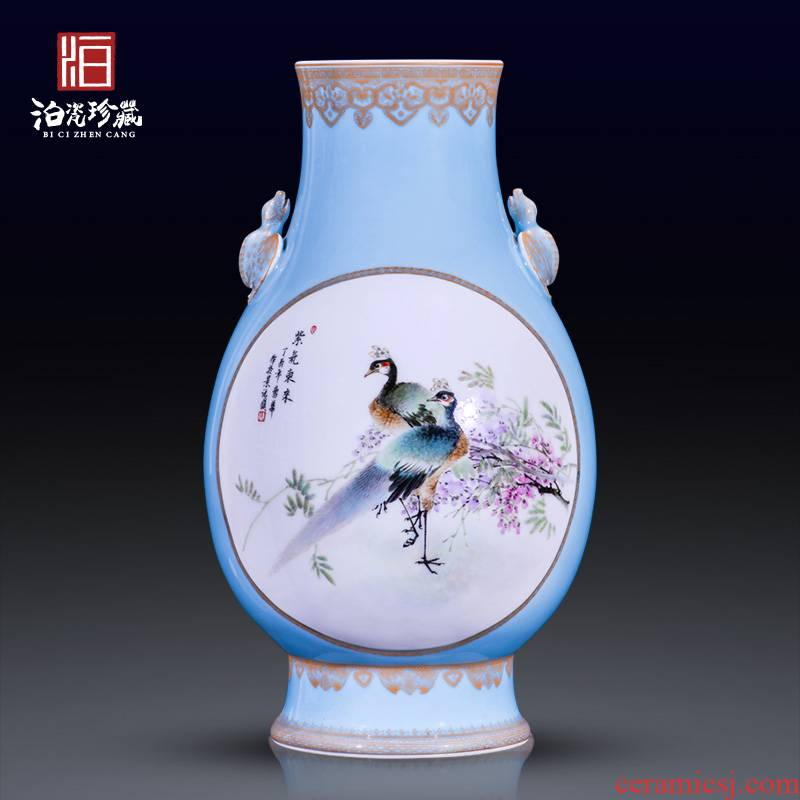 Jingdezhen ceramics hand - made dress powder enamel decoration its collection vases, new Chinese style household furnishing articles