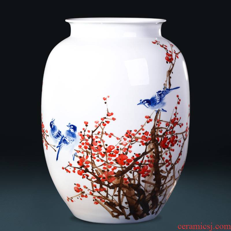 Jingdezhen ceramics famous hand - made vases, flower arranging place, a large sitting room of the new Chinese style household decorative arts and crafts