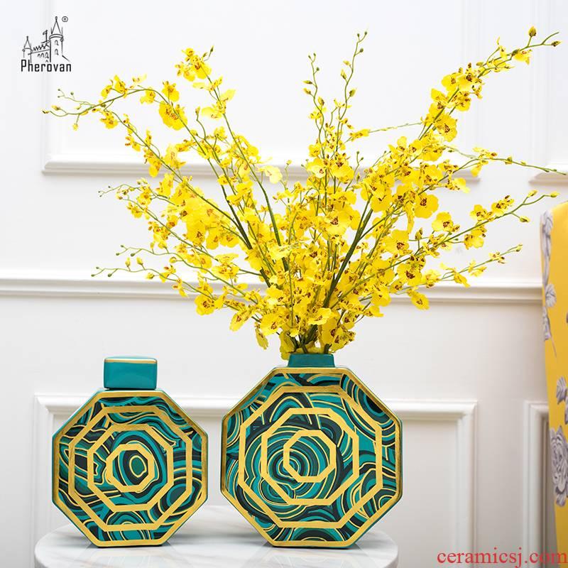 The Nordic idea light and decoration ceramics floret bottle luxurious sitting room place table dry flower arranging flowers, home decoration