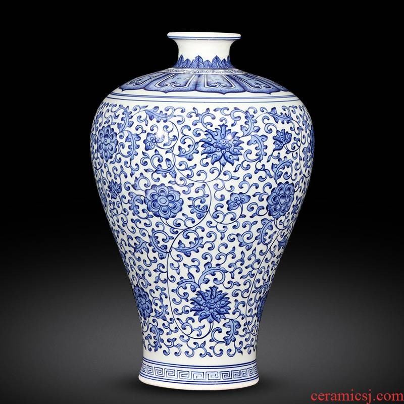 Jingdezhen ceramics Chinese style restoring ancient ways antique hand - made of blue and white porcelain vases, flower arrangement sitting room home furnishing articles