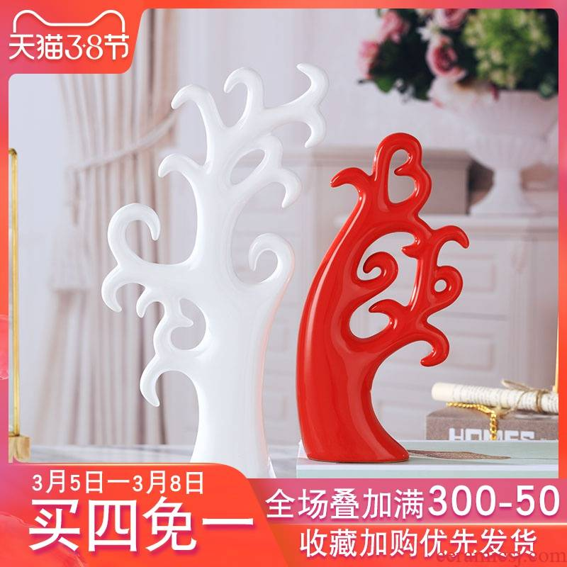 Modern creative home wine accessories furnishing articles sitting room TV cabinet ceramic arts and crafts room decoration move