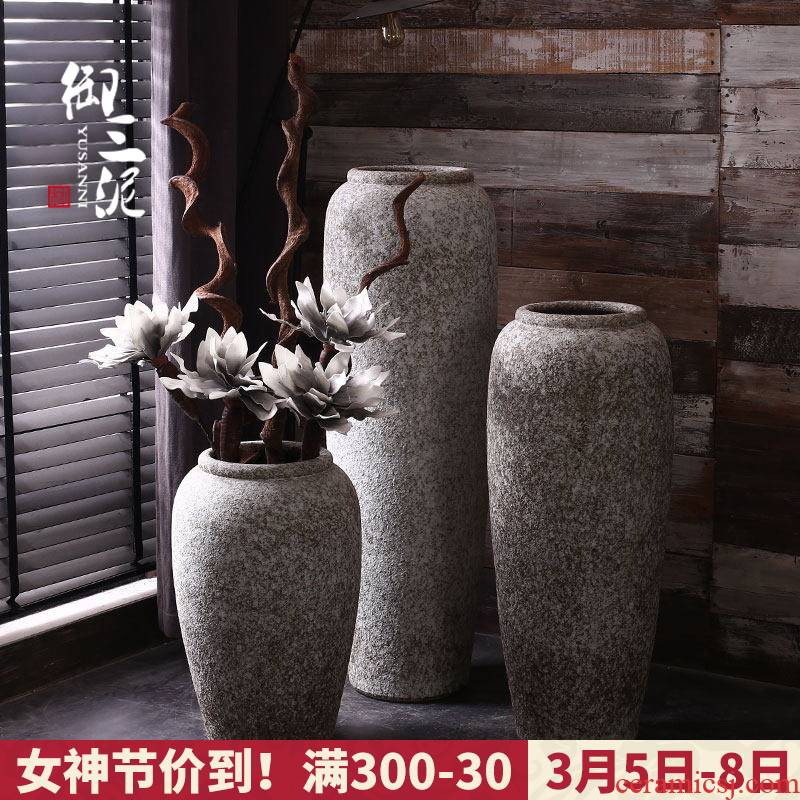 I and contracted Nordic white ceramic furnishing articles sitting room of large vase dried flower decoration flower arranging flower POTS