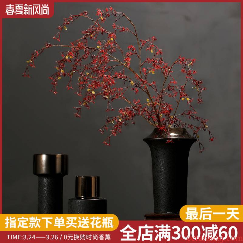 Chinese pottery and porcelain vase furnishing articles sitting room dry flower flower arranging flower implement home wine porch TV ark adornment ornament