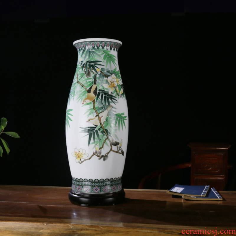 Under the glaze porcelain good send vase color desk mesa of the sitting room porch ark, home furnishing articles business gifts