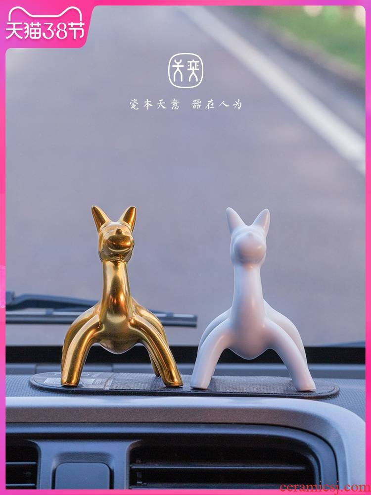 """Social"" dog days ""yi ceramics furnishing articles auto instrument desk decoration decoration leant dog high - grade inside the car"
