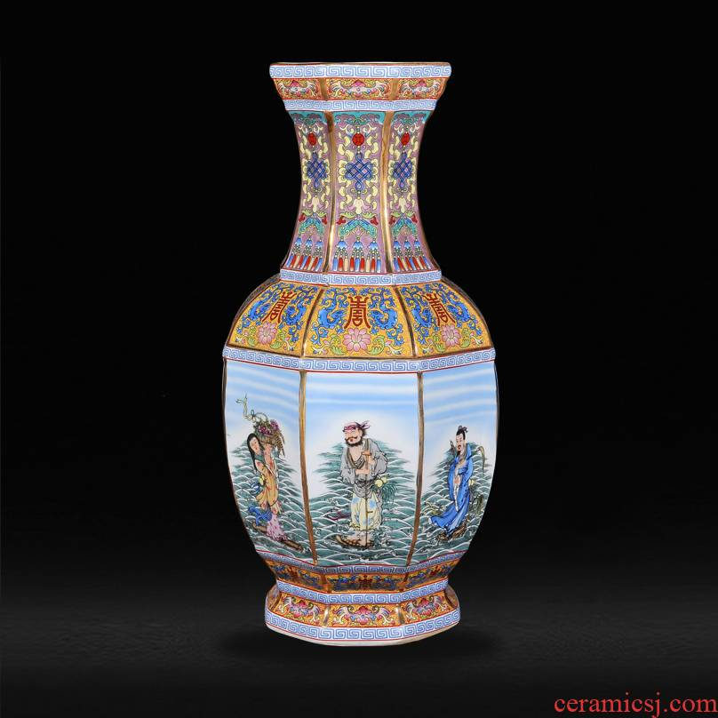 Jingdezhen ceramics antique vase the qing qianlong year new classical postmodern sitting room penjing collection