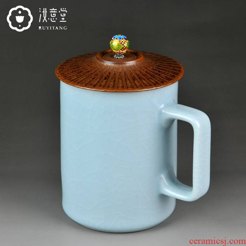 Your up ultimately responds a cup of ceramic keller with cover creative office tea high - capacity Chinese contracted male tea cups