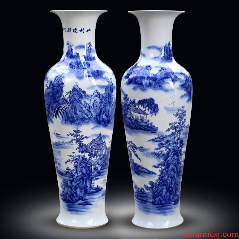 Jingdezhen landing big vase to heavy Chinese flower arranging vase interior contracted large creative household act the role ofing is tasted furnishing articles