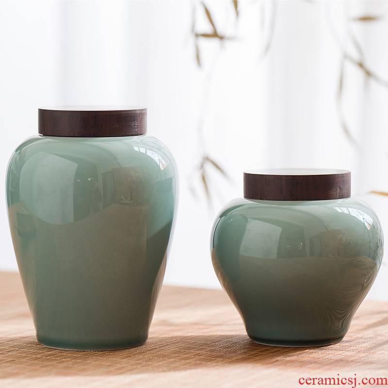 JingLan day its caddy fixings hand - made ceramic seal pot of tea box travel tea set portable small flower POTS of tea