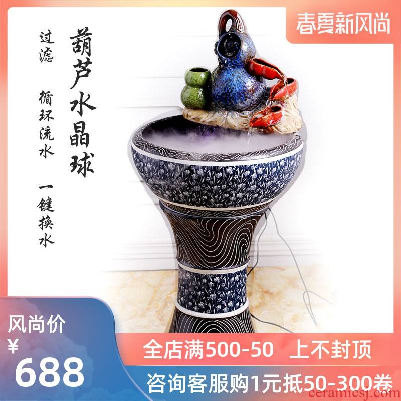 Floor type restoring ancient ways ceramic pillar - oxygen tank automatic filter tank sitting room of large tank from geomancy fortune