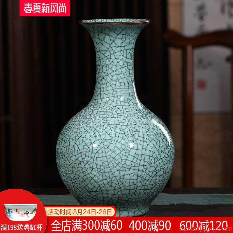 Jingdezhen ceramics antique vases, flower arranging dried flower decoration new Chinese wine sitting room adornment is placed