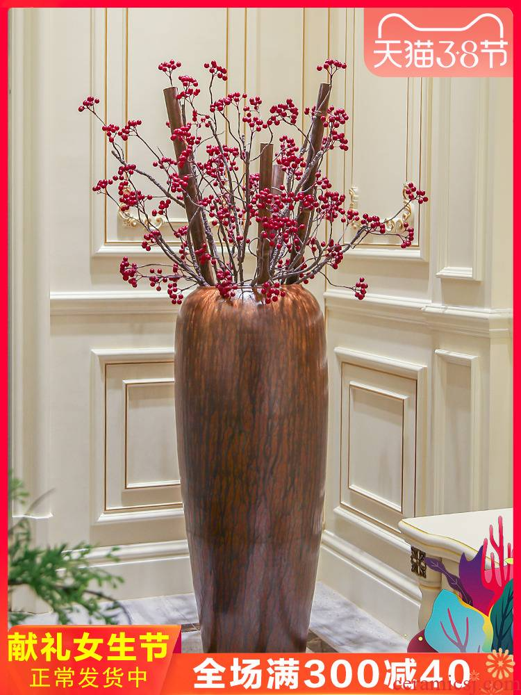 Jingdezhen ceramic vase of large hotel villa covers furnishing articles sitting room porch flower arranging, adornment is placed